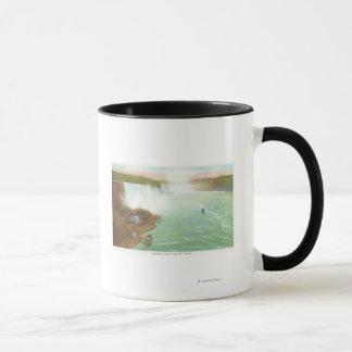Mug Vue aérienne des chutes du Niagara entières