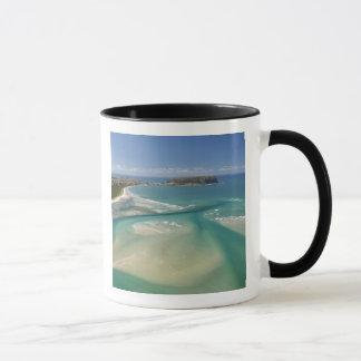 Mug Vue aérienne d'estuaire, de baie de Sawyer,