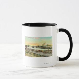 Mug Vue aérienne du port de San Pedro