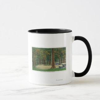 Mug Vue d'au sol de pique-nique de champ de bataille