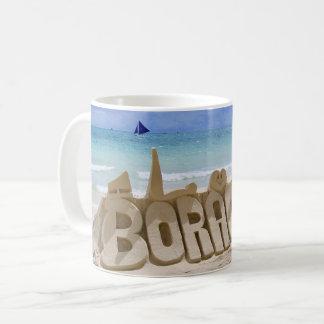 Mug Vue de Boracay Philippines au-dessus de la plage
