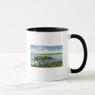 Mug Vue de bouton et du Long Island de citrouille