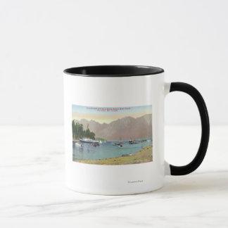 Mug Vue de Howe Sound de vapeur des syndicats à l'île