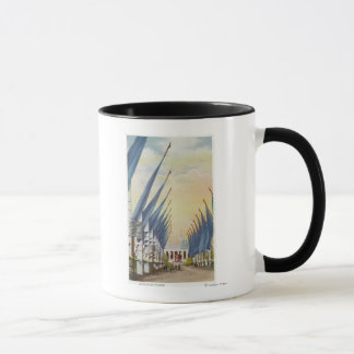 Mug Vue de l'avenue de Flags, l'Exposition universelle