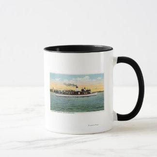 Mug Vue de l'Oncle Sam de bateau de courrier des USA