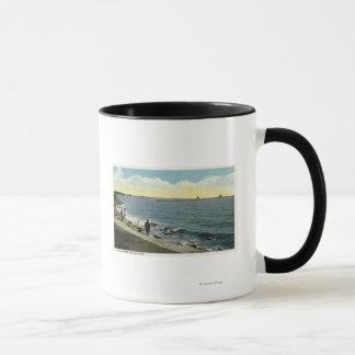 Mug Vue de parc de bord de la mer du bruit