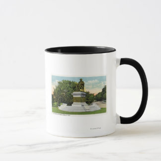 Mug Vue de parc de bord de la mer du monument de P T