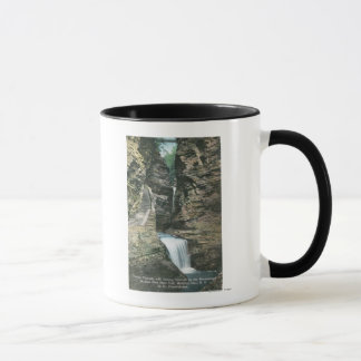 Mug Vue de parc d'état des cascades de rideau et de