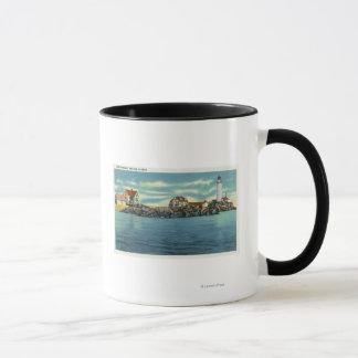 Mug Vue de phare de port de Boston et de Boston
