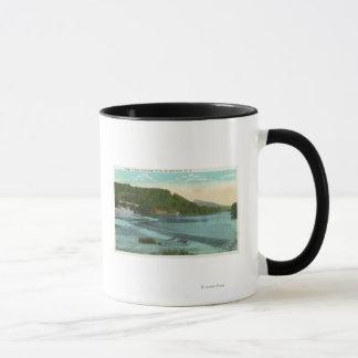 Mug Vue de rivière et de barrage de Chenango