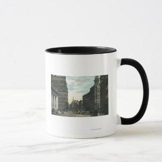 Mug Vue de rue d'échange de rue d'état
