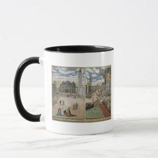 Mug Vue de San Marco, et le Palazzo Ducale sur le feu,