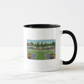 Mug Vue des jardins d'un domaine de lac Chautauqua