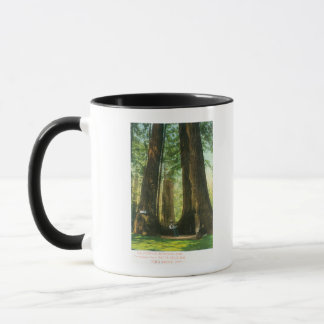 Mug Vue des jumeaux de séquoia au grand verger d'arbre