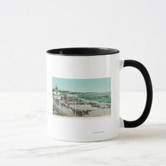 Mug Vue du casino, de la plage, et du pilier