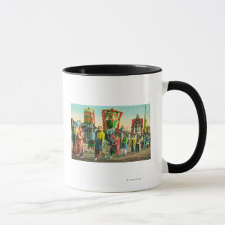 Mug Vue du défilé des pinces, Chinatown
