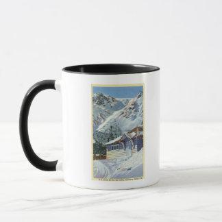 Mug Vue d'un abri de ski de Service Forestier des USA