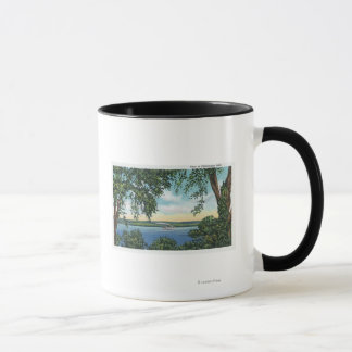 Mug Vue d'un bateau à vapeur sur le lac