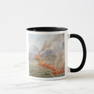 Mug Vue d'une éruption du mont Vésuve qui a commencé