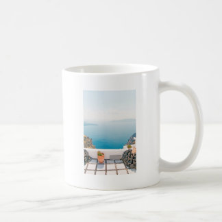 Mug Vue en île de Santorini
