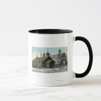 Mug Vue extérieure d'église de St Mathew et