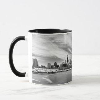 Mug Vue panoramique d'horizon de Chicago en hiver