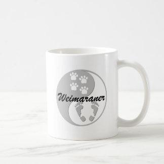 Mug Weimaraner de yang de Yin