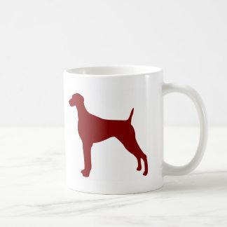 Mug Weimaraner (rouge)
