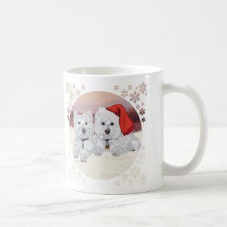 Mug Westies dans l'hiver