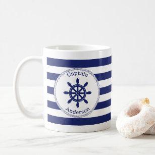 Mug Wheel Add Name de capitaine nautique