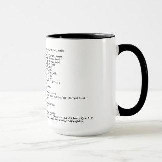 """Mug x86 Assemblée """"quantité de café """""""