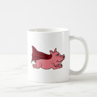 Mug XX bande dessinée superbe volante de porc