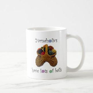 Mug Yarnaholics ont un bon nombre de boules