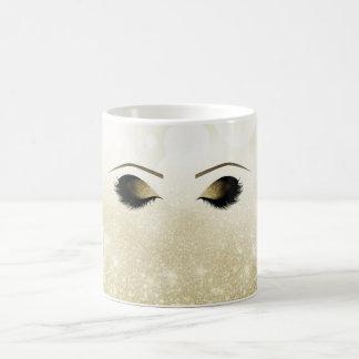 Mug Yeux et mèches fascinants de maquillage d'or