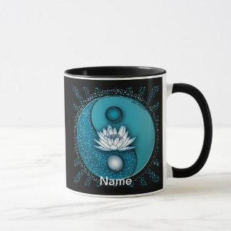 Mug Yin bleu Yang Lotus