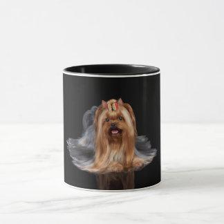 Mug Yorkshire Terrier sur le noir