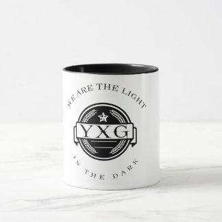Mug YXG-lumière dans le logo foncé