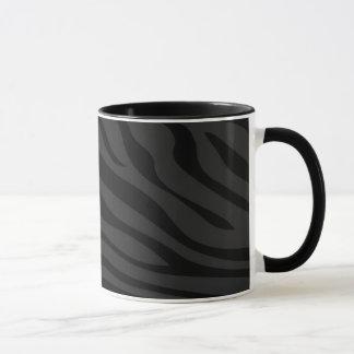 Mug Zebbra barre le noir mat
