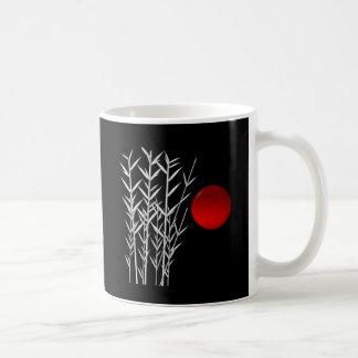 Mug Zen rouge de blanc de noir du soleil