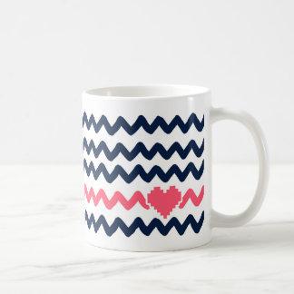 Mug Zigzag avec le coeur