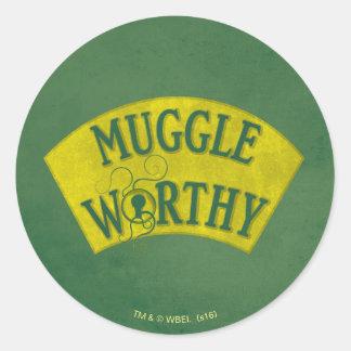 Muggle digne sticker rond