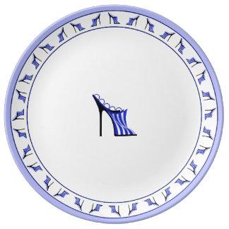 Mule américaine assiette en porcelaine