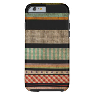 Multi Colors Striped Abstract Art Black iPhone 6 c Tough iPhone 6 Case