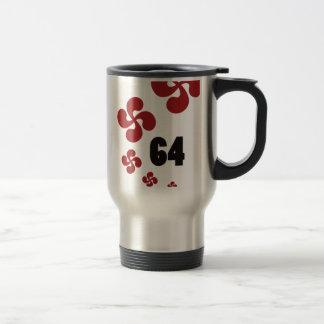 Multiple croix64.ai mug de voyage en acier inoxydable