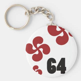 Multiple croix64.ai porte-clé rond