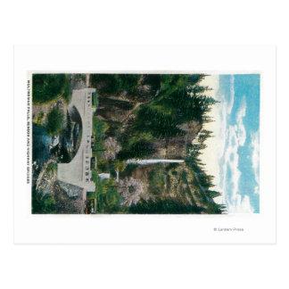 Multnomah tombe avec des ponts en Benson et en Carte Postale