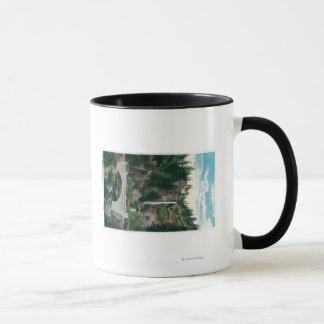 Multnomah tombe avec des ponts en Benson et en Mug