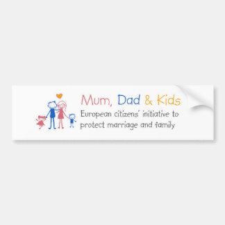 Mum Dad & Kids Autocollant Pour Voiture