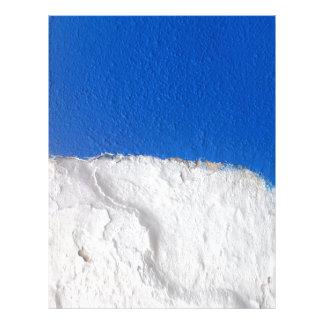 Mur blanc bleu traditionnel de l'Alentejo Tract