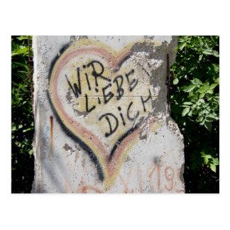 Mur de Berlin - Nous vous aimons Carte Postale